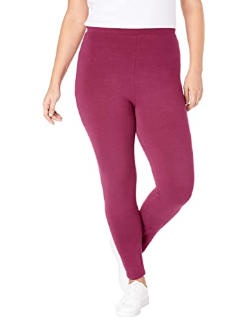 cd70e9829cf3c Woman Within Women's Plus Size Petite Stretch Cotton Legging