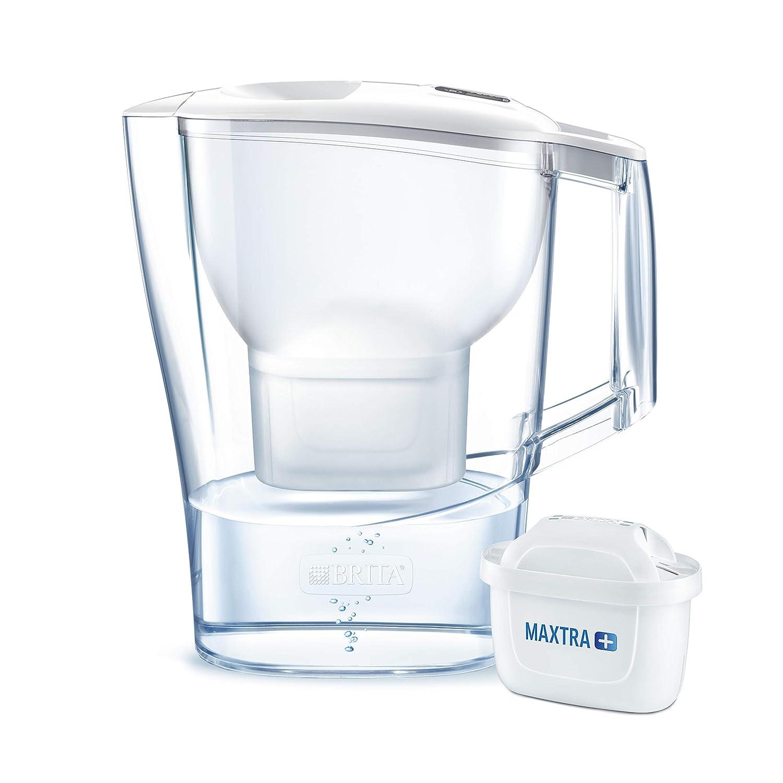 BRITA Aluna – Jarra de Agua Filtrada con 1 cartucho MAXTRA+ – Filtro de agua BRITA que reduce la cal y el cloro – Agua filtrada para un sabor ...