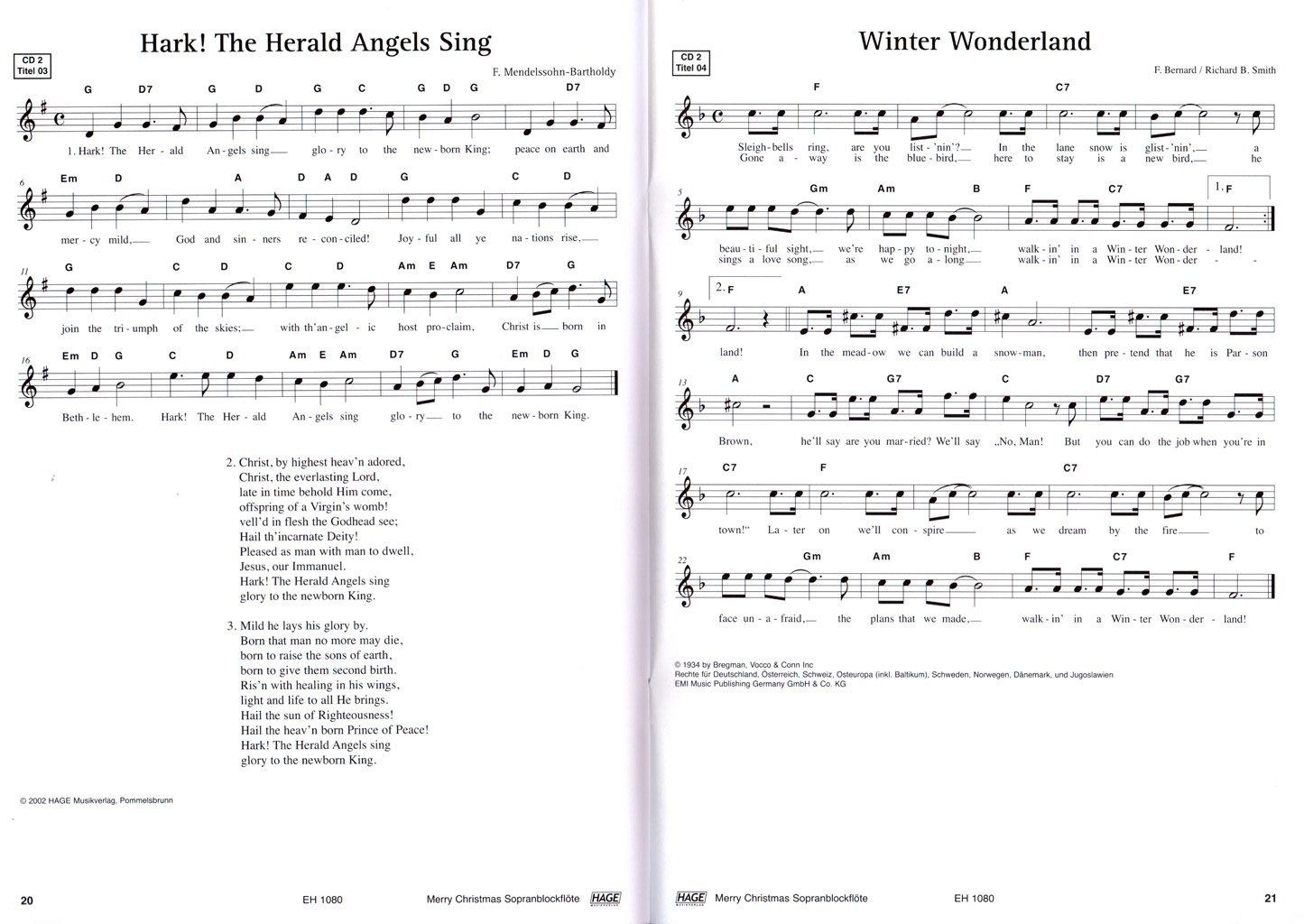Merry Christmas, Ausgabe für C-Instrumente (Blockflöte) - 45 ...