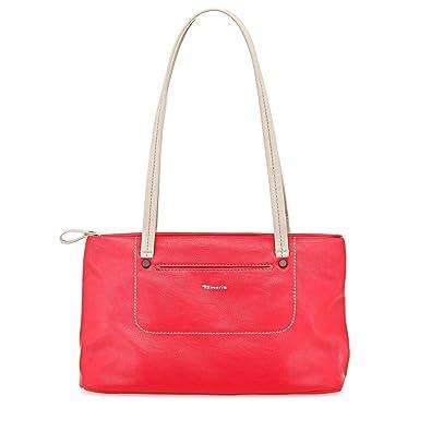 ANGELINA Damen Handtasche, Shoulder Bag, Henkeltasche, 3 Farben: navy comb., pink comb. oder white comb., Farbe:weiss Tamaris