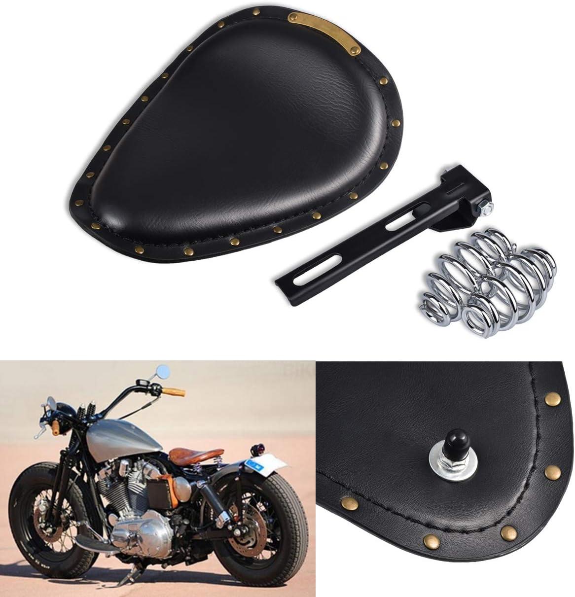 NATGIC Harley Motorrad Solo Sitzkissen Schwarz Krokodilleder Tasche f/ür Harley Sportster Bobber Chopper Custom