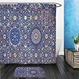 Beshowereb Bath Suit: ShowerCurtian & Doormat gold and blue ceiling in a muslim mosque islamic traditional religious ornament 382581241