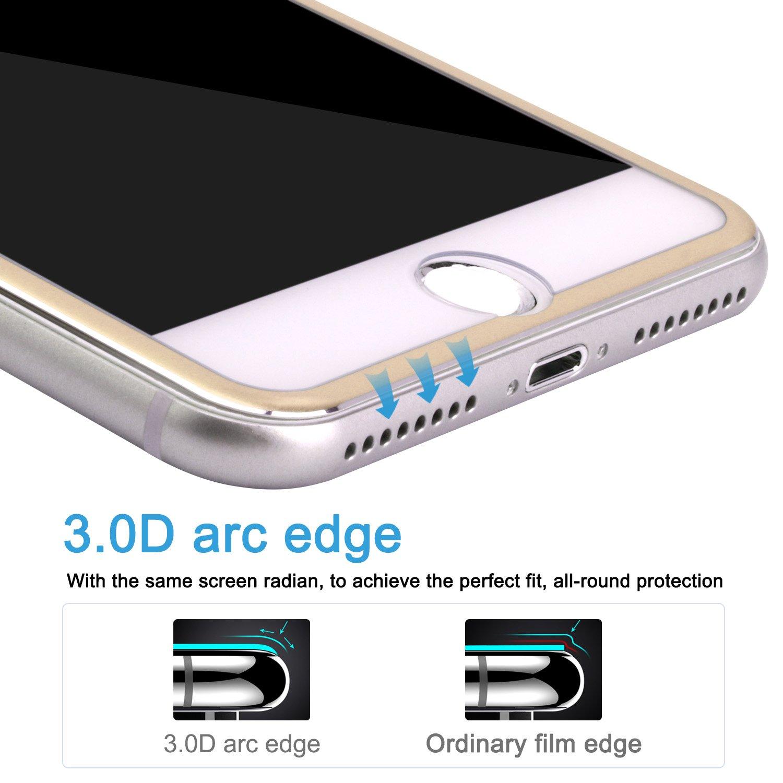 [2 Stück] iPhone 7 Panzerfolie iPhone 8 Panzerglas Zxk Co Ultra klar 9H Härte Panzerglasfolie 3D Touch Kompatibel Full Screen Displaychutzfolie für iPhone