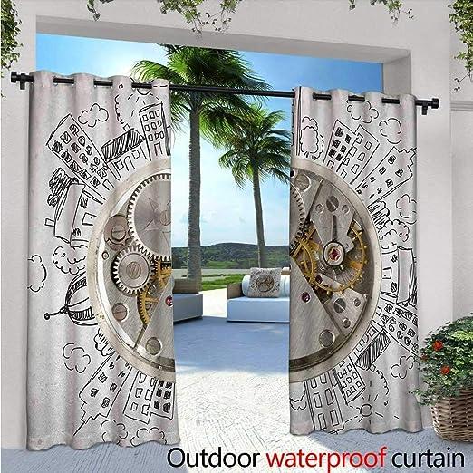 Reloj de cortina de privacidad para exteriores Pergola A Grupo de ...