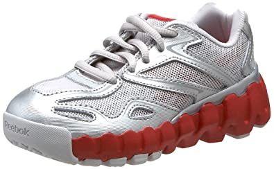 on sale 071eb 34943 Reebok Mini Zig Sonic Running Shoe (Toddler),Steel Pure Silver Red
