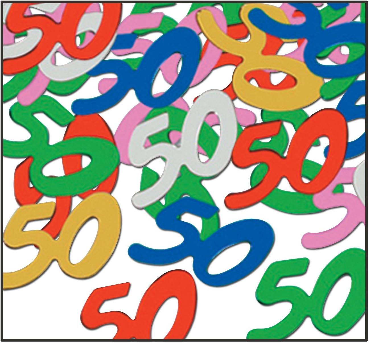 Amazon Com Fanci Fetti 50 Silhouettes Multi Color Party Accessory 1 Count 5 Oz Pkg Kitchen Dining