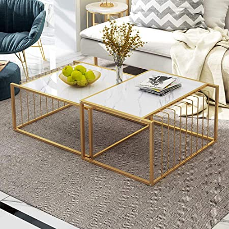 Redd Royal Simple Living Room Table Sets Nesting Coffee Tables