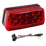 "Wesbar 281595 Waterproof LED Wrap-Around Tail Light, Over 80"" Wide Trailer, Left/Roadside"