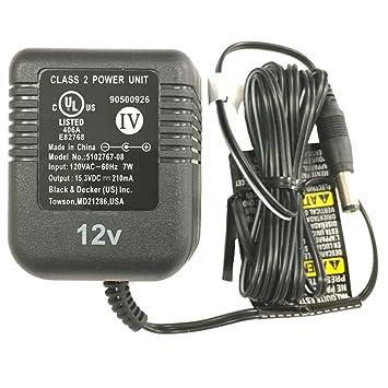 Amazon.com: Black & Decker 90500926 – 01 12 V NiCad Cargador ...