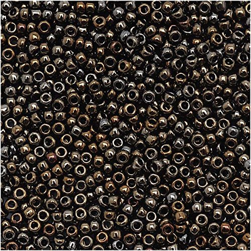 (Toho Round Seed Beads 15/0#83 'Metallic Iris Brown' 8 Gram Tube)