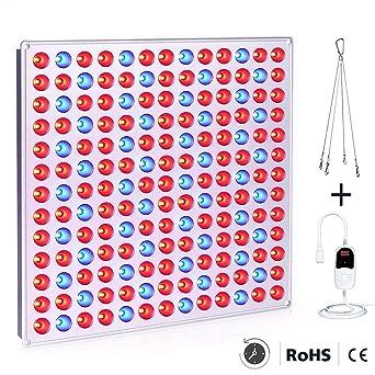Roleadro LED Pflanzenlampe mit Zeitschaltuhr 75w Pflanzenlicht Led Grow Lampe mit Rot Blau Licht pflanzenleuchte fur Pflanzen
