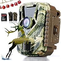 COLORWAY Wildkameras - Jagdkamera - 16MP 1080P HD-Kamera, PIR-Bewegungssensor, wasserdichtes IP65, Nachtsichtgerät mit 3 Infrarotsensoren für die Überwachung von Wildtieren 22-teilige IR-LED