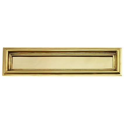 Buzón para puerta empotrable Ranura para cartas latón pulido ...