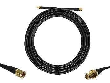 Cable alargador DE 50 Ohm de Baja Pérdida de Coaxial SMA Macho a ...
