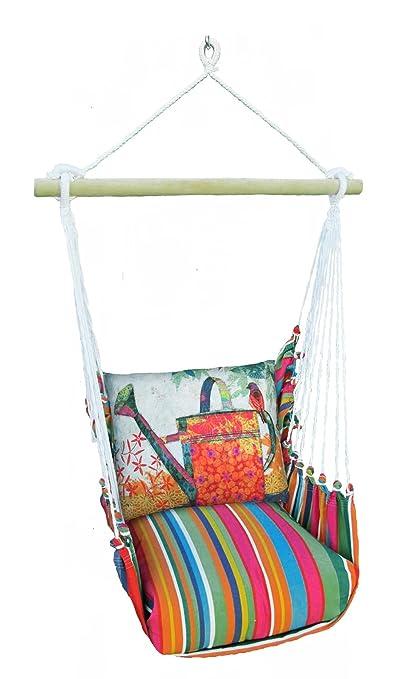 Amazon Com Magnolia Casual Swing Chair With Pillows Garden Outdoor