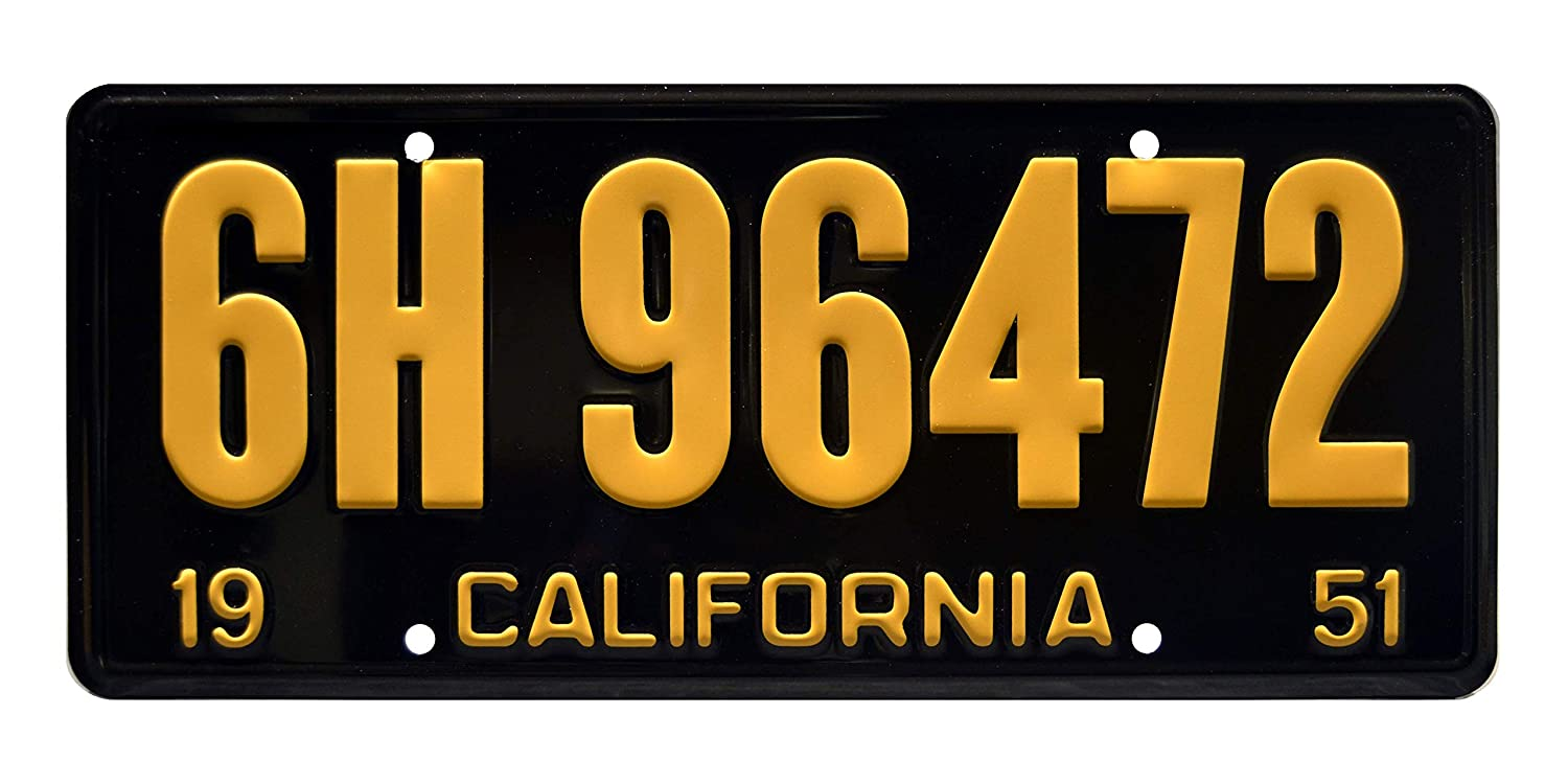 Back to the Future DeLorean OUTATIME Metal Stamped Vanity Prop License Plate