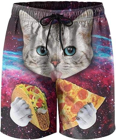 Cats Animal Mens Board Shorts Swim Mesh Lining and Side Pocket