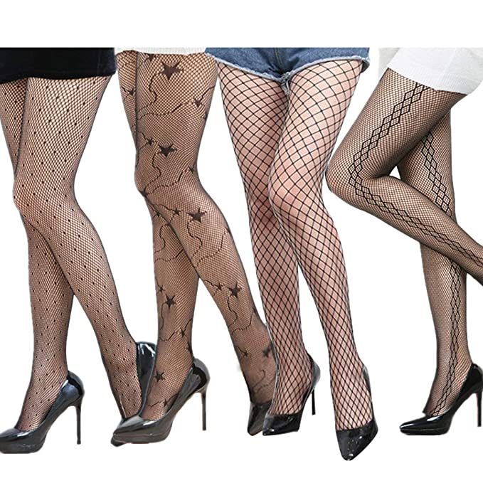 4d11cb8c8df Image Unavailable. Image not available for. Color  Plus Size Fishnet  Stockings Sexy Net Pantyhose Womens Mesh Tights ...