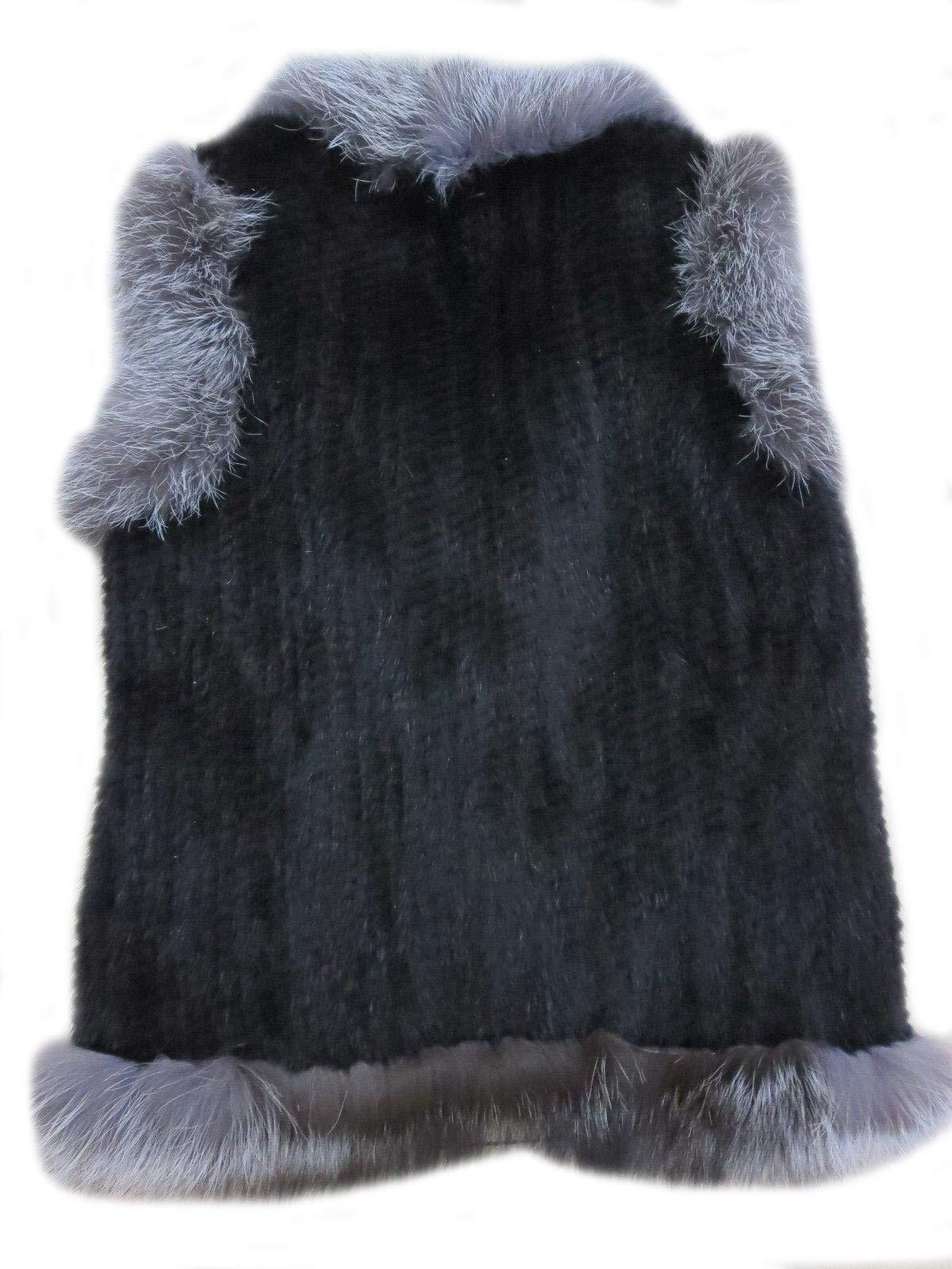 Women's Elegant Real Mink Fur Vest With Sliver Fox Fur Collar (Mink Fur + Sliver Fox Fur Vest) by DTDYG18 (Image #3)