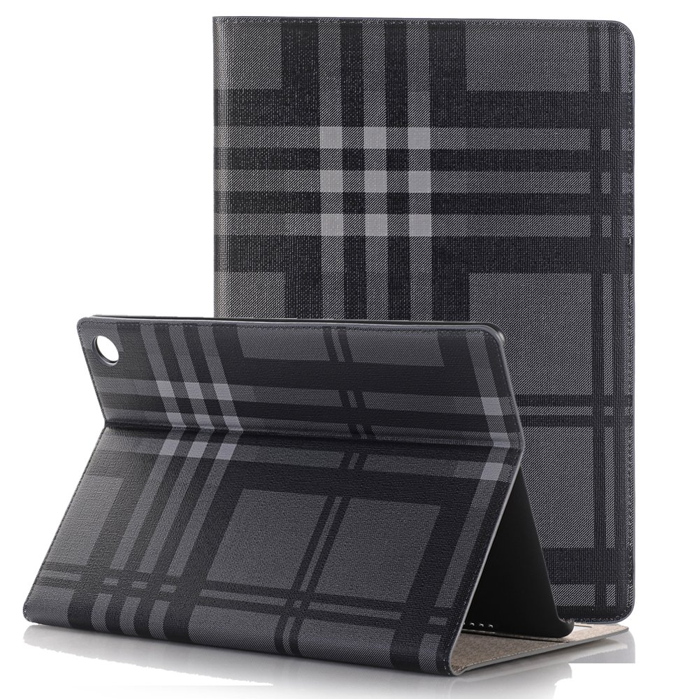 MIYA LTD Huawei MediaPad T3 8.0 Inch Case, Luxury Folio Case Ultra Slim Stand Smart-shell With [Card Slots] PU leather Smart Protective Cover ONLY forHuawei MediaPad T3 8.0''-Grey