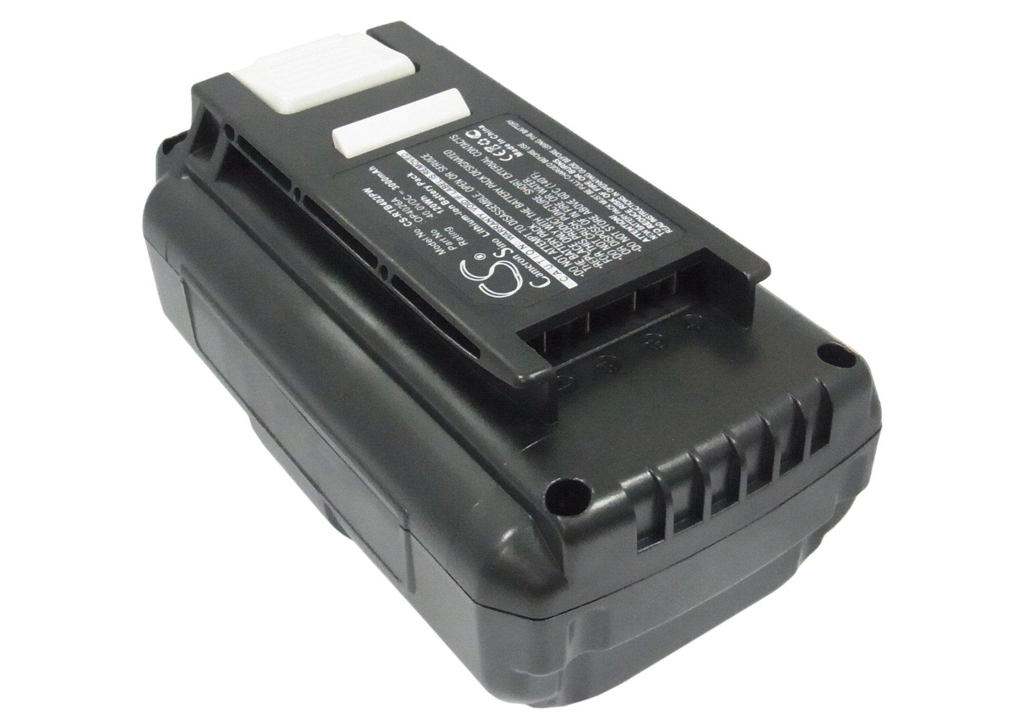 Pearanett 3000mAh / 120.0Wh Replacement Battery for Ryobi RY40510