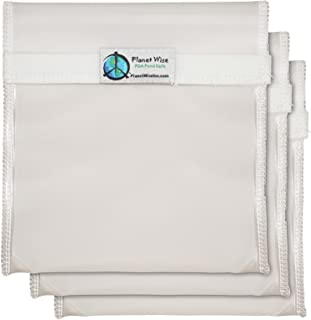 product image for Planet Wise Reusable Clear Hook and Loop Quart Bag, 3-Pack