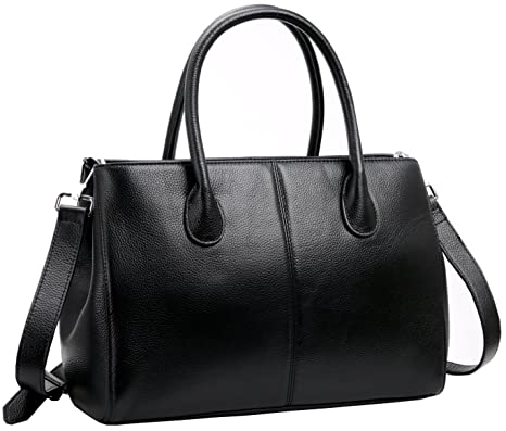 12519a3036 Buy Iswee Women s Designer Purses and Handbags Ladies Top Handle Tote Bags  Satchel Shoulder Bags (Black) Online at Low Prices in India - Amazon.in