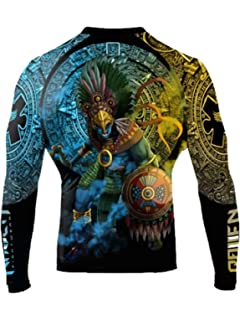 Raven Fightwear Men/'s Eagle Warrior Rash Guard MMA BJJ Black