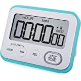 WUTL Digital Kitchen Timer Magnetic Loud Alarm Clock, Large LCD Screen Silent/Beeping Multi-Function for Teachers Kids…