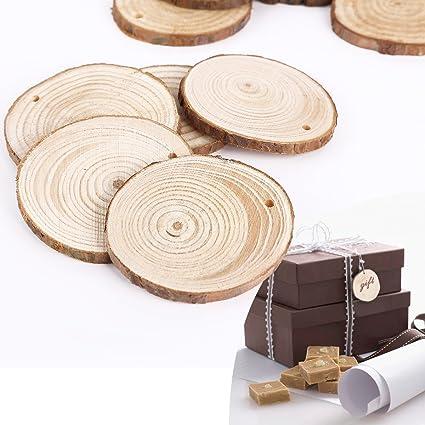 24 Stück Fahrzeug Naturholz Form Holzscheiben Holzstücke Anhänger