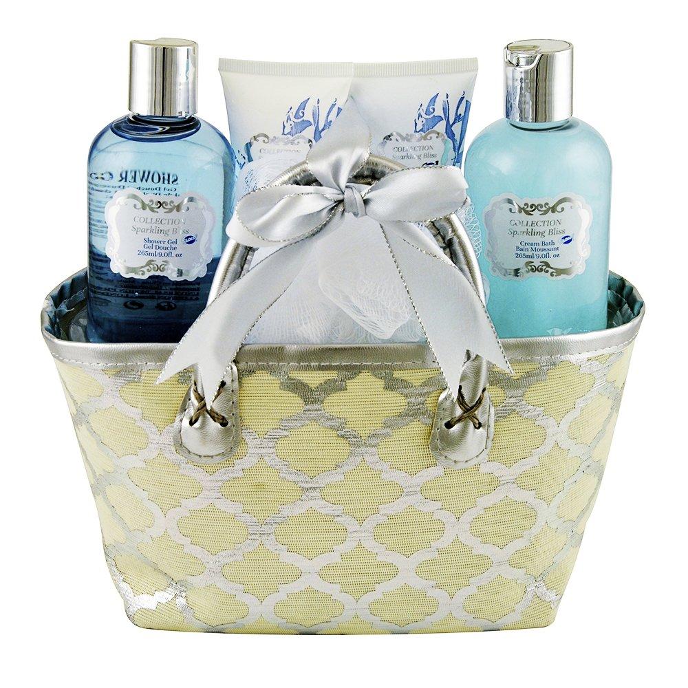 Gloss! Bag Sparkling Bath Bliss - Fiori bianchi e muschio - 5pcs - scatola regalo, regalo per le donne Universal Beauty Market HY16F108-GOLD