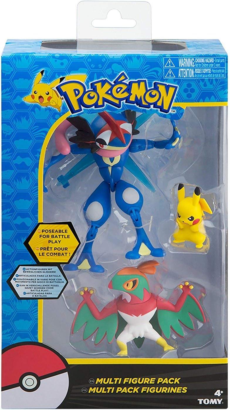 Pokemon Tomy Action Figure Multi-Pack ash S Greninja Hawlucha Pikachu Figures: Amazon.es: Juguetes y juegos