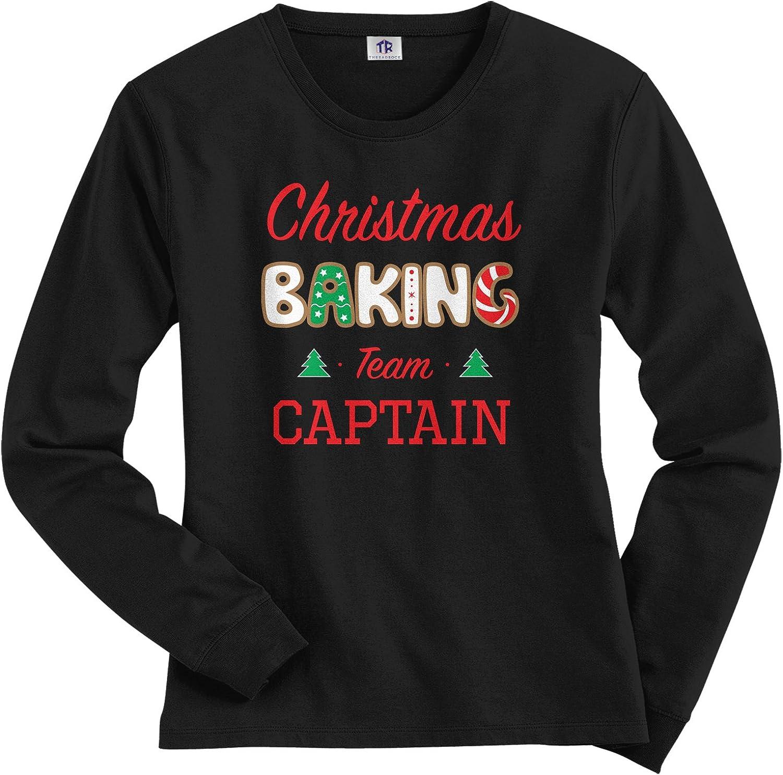 Threadrock Women's Christmas Baking Team Captain Long Sleeve T-Shirt