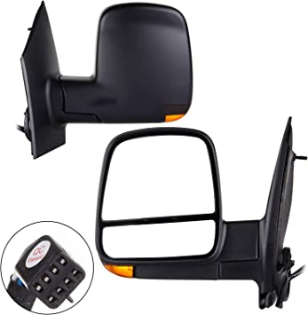 08-17 Express Savana Set of Side View Power Mirrors Heated Signal Dual Glass