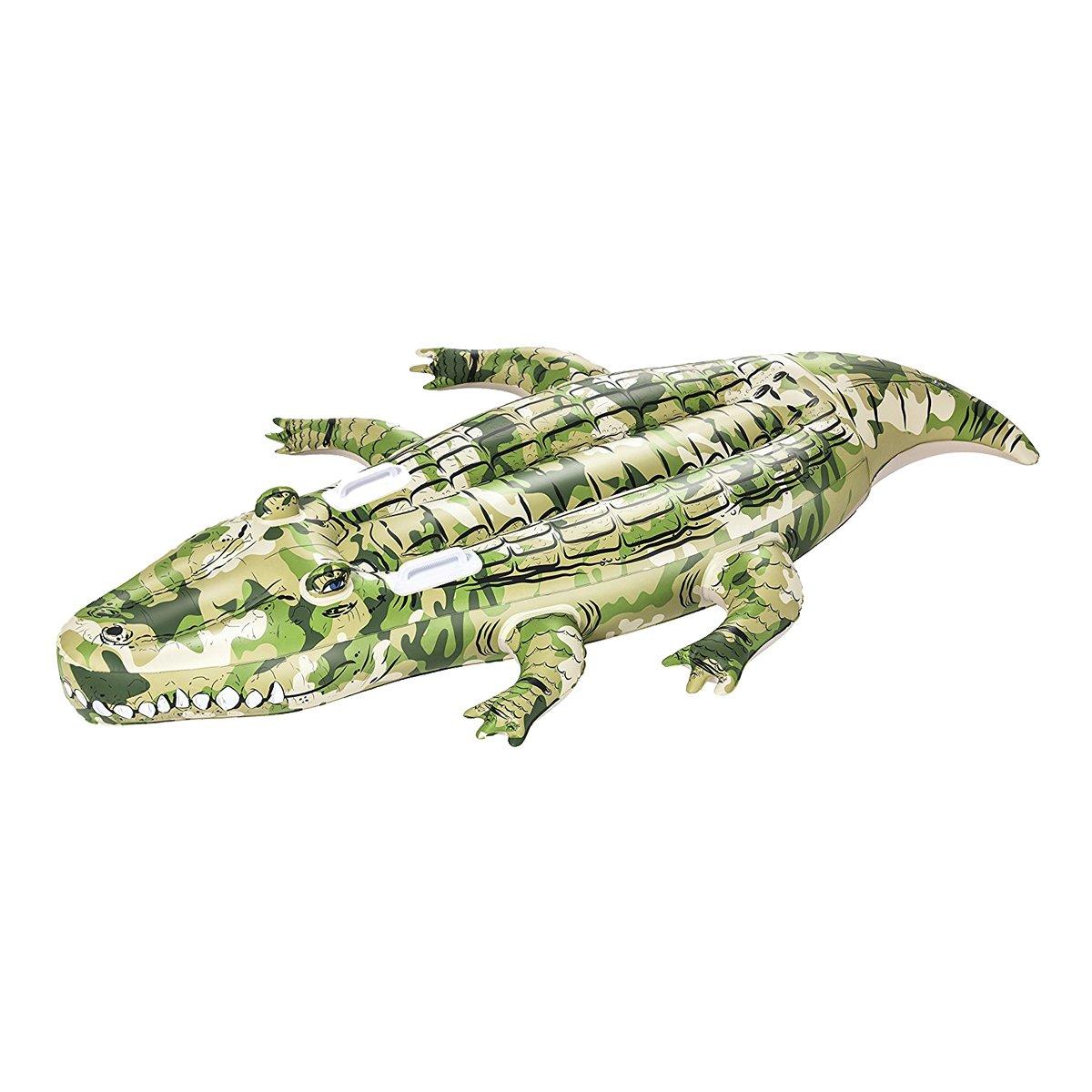 Dabuty Online, S.L. Colchoneta Flotador Hinchable Cocodrilo Verde Camuflaje para Playa o Piscina Tamaño 175 x 102 cm: Amazon.es: Hogar