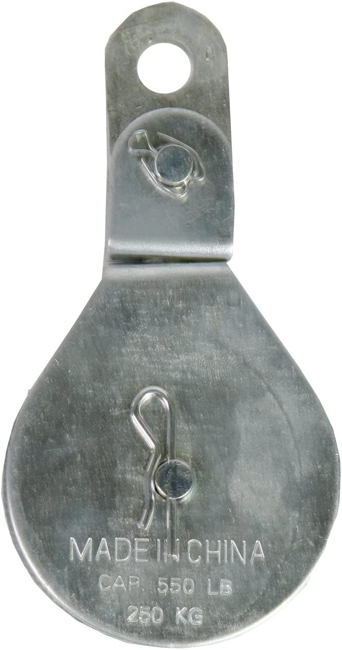 Zinc Plated Finish Koch Industries 3191593 Swivel Eye Cable Block with 1-1//2-Inch Sheave