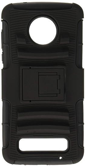 a446ff74cb8 Luxmo Funda Case con Clip para Motorola Moto Z2 Play, Triple Protector de  Plástico, Color Negro: Amazon.com.mx: Electrónicos