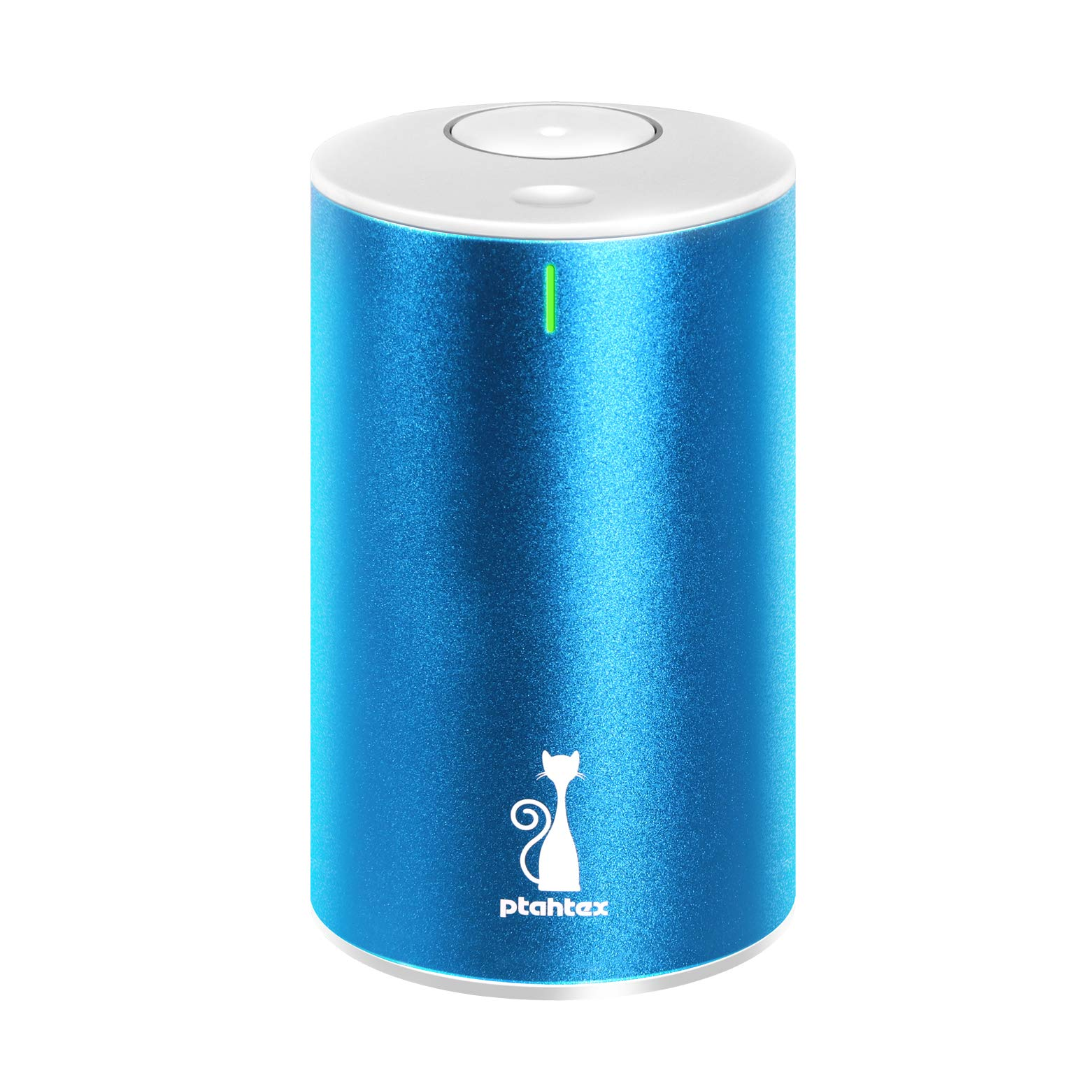 PtahTex 2nd Version Waterless Essential Oil Diffuser,Battery Operated Aromatherapy Diffuser, Portable Perfume Atomized, AquaBlue, Car, Home, Office, Yoga