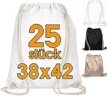 Bolsa de gimnasia de algodón 25 piezas Bolsa deportiva de 38 x 42 ...