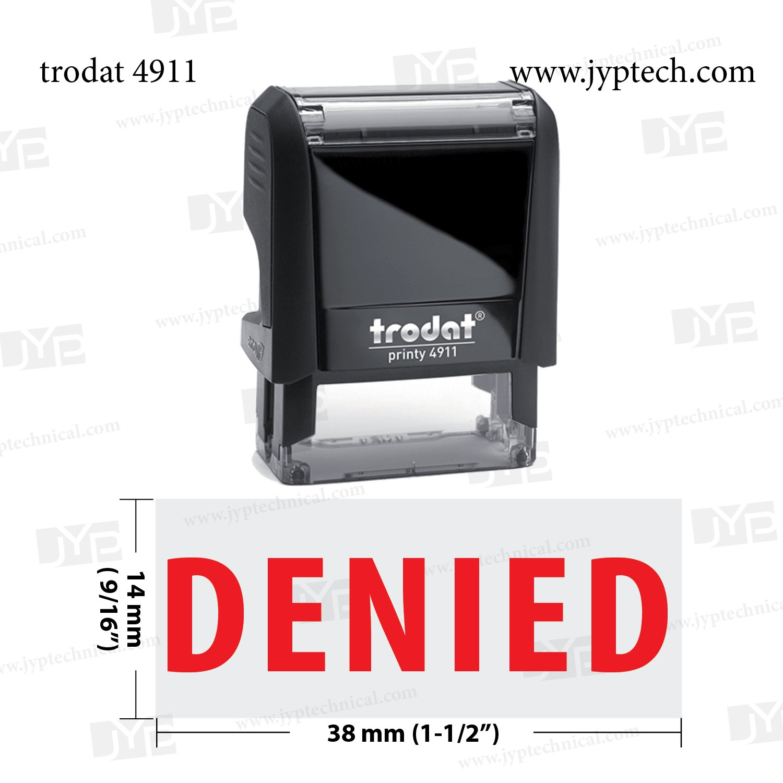 Nueva Trodat 4911 sello automático w. Denied Denied Denied df85c4