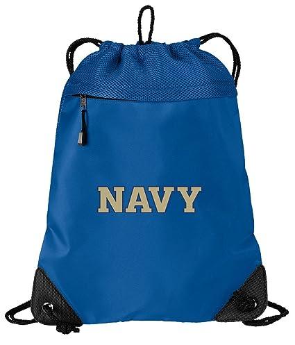 Amazon.com: Mochila oficial de la Academia Naval con cordón ...