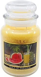 product image for A Cheerful Giver Yellow Slice of Paradise 24 Oz Jar Candle, Multi