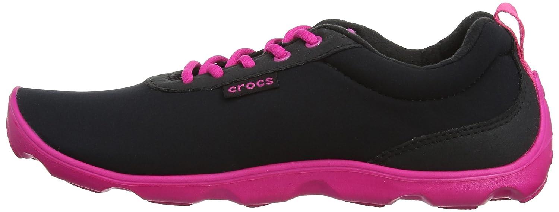 Crocos Duo Journée Bien Remplie Avec Lacets - Chaussures Synthétiques Pour Les Femmes, Couleur Noir, Taille 35