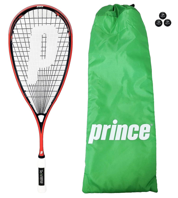 Prince Pro Airstick Lite 550 Squash raqueta + funda + 3 Pelotas de squash Dunlop: Amazon.es: Deportes y aire libre