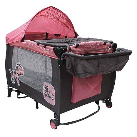 c8f7dfd1f Infanti Cuna de Viaje Mecedora Zebra, Pink: Amazon.com.mx: Bebé