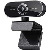 cámara web HD 1080P Webcam para PortatilWebcam PC con Microfono, /Ordenador/Mac USB 2.0 Web Camera PC para Conferencias…