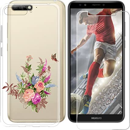 AQGG Coque Huawei Y6 2018 Cover Crystal Souple Shell Housse Etui ...