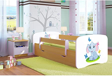 Letti Per Bambini 160 Cm.Carellia Letto Per Bambini A Forma Di Elefante 80 X 160 Cm Con