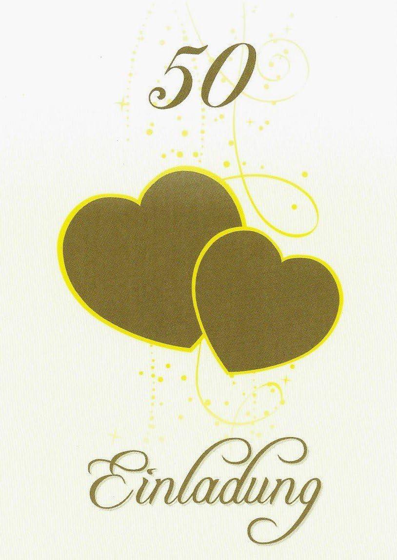 Anl/ässe Braune Karten und H/üllen mit Gold-metallic Schrift 5 Einladungskarten im Set DIN A6 stilvolle Einladung f/ür versch Komplett-Set aus Doppelkarte /& Umschl/äge /& Einleger