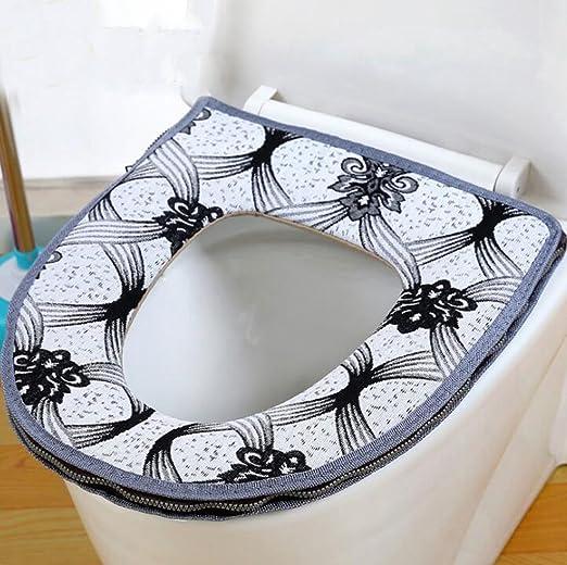 NuoEn Cojín de asiento de inodoro zipper wc acolchado ...